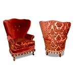 Anabelle Red Velvet Chair