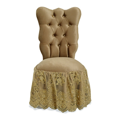 Farfalla Gold Vanity Chair