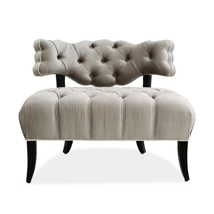 Perfect Grey Velvet Tufted Chair - Hollywood Glam - Haute House Home OK08