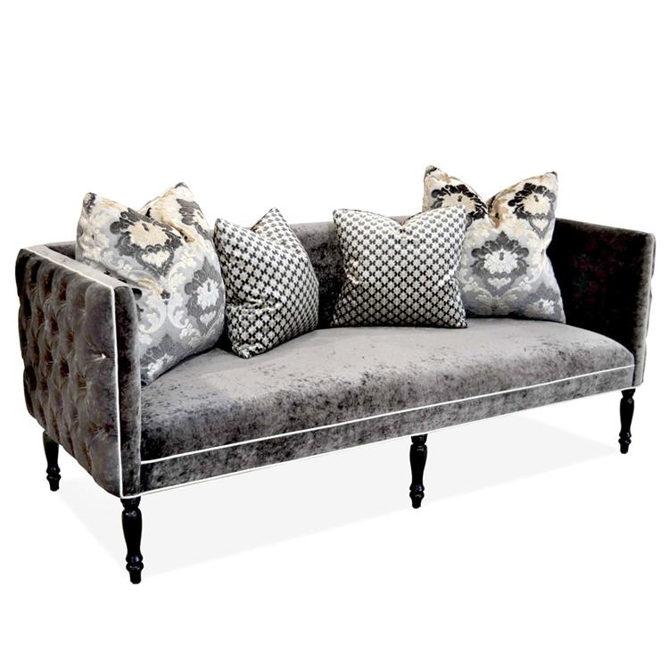 Grey Tufted Sofa A92
