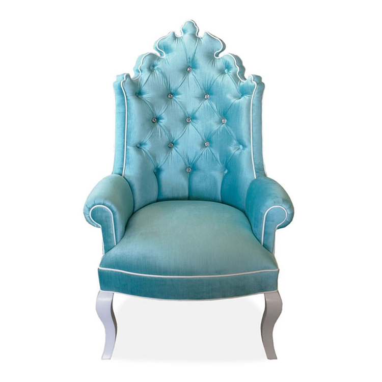 Isabella Turquoise Tufted Chair