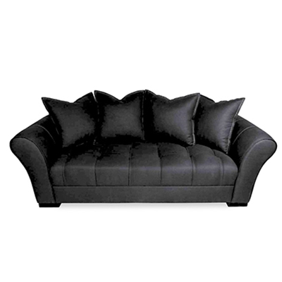 Avid Button Pulled Black Sofa
