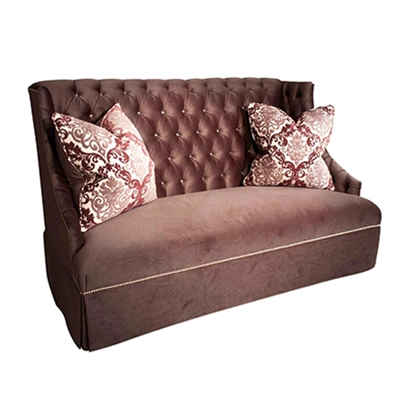 Sway High Back Plum Sofa