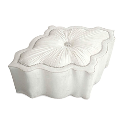 Amour Ruched Ottoman