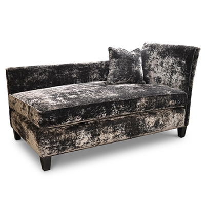 Rachelle Crush Charcoal Velvet Chaise