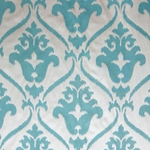 Haute House Home | Fabrics | Pattern | Teal Damask Fabric