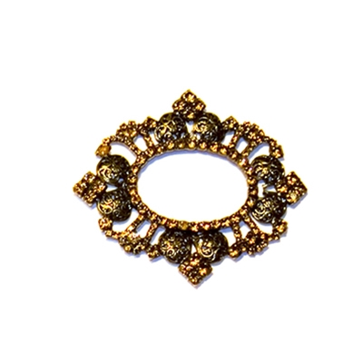 Haute House Home | Accessories | Bling | Buckles | Vintage Amber Buckle