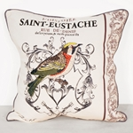 Albatross Cotton Embroidered Pillow - HauteHouseHome.com