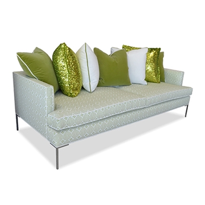 Acme apple green modern style sofa