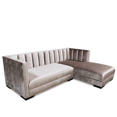 Rye Grey Channel Sectional