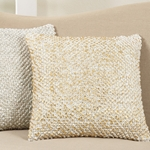 Berber Pillow - Holiday Pillow - Foil Printed Pom Pom