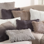 Billy Pillow - 100% Goat Fur Pillow in Various Colors  - HauteHouseHome.com