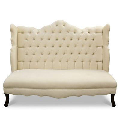 Isabella Ivory Wing Banquette
