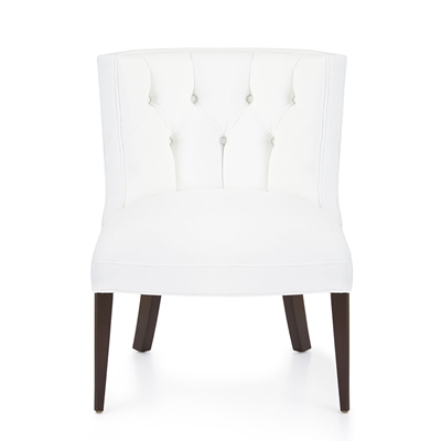 Tiffany White Velvet Floral Chair